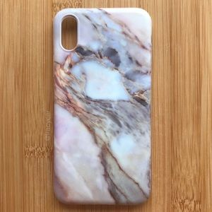 NEW Iphone X Marble Stone Case